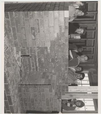 University of Kentucky Housing Class; From left to right: Lula Clarkson, Mrs. Roland Ratliff, Joan Pittelko, Nancy Trapp, Alice Craig, Mary Jane Cassidy, and Roberta Cocanougher