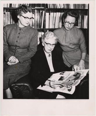 From left to right: Evangeline Kelsay, Ethyl Lee Parker, and an unidentified