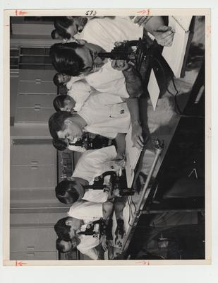 Students in a Pharmacy laboratory; Photographer: Ben L. Williams