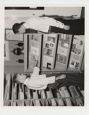 Students examine journals in the Pharmacy Library