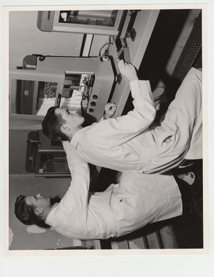 Pharmacy students at work in the laboratory