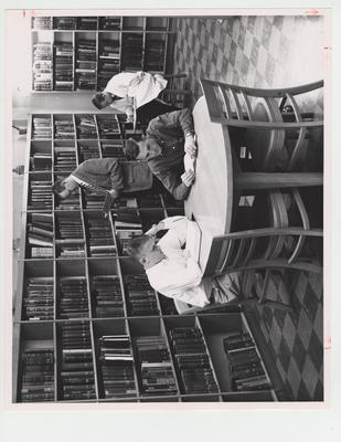 Students at the Pharmacy Library