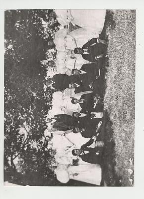 Class of 1895; From left to right, Back Row: Nellie Reynolds, Nettie B. Foster (salutatorian), Lucy Fitzhugh, John Bryan, Elizabeth W. King, John Vick Faulkner, Mary Didlake (valedictorain), Mary Atkins, Mary McCauliff; Front Row: Paul I.
