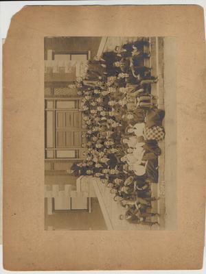 Sophomore Class of 1906 - 1907; Including: 13) Logan, 24) Harry Davis, 25) John Sherman Horine, 29) Ben Wilson, 34) Hiter H. Lowry, 52) Worthington
