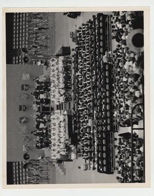 Graduation Day and dedication of the Coliseum; Speaker: Reuben C. Gustavson, chancellor of the University of Nebraska; Photographer: Ben L. Williams