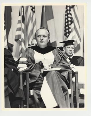 Governor Edward (Ned) Breathitt at the University of Kentucky commencement