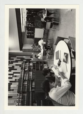 Students study in the library at Paducah Community College