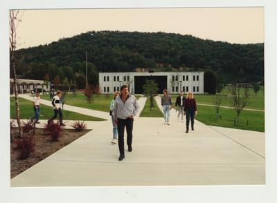 Students walks on the Prestonsburg Community College campus