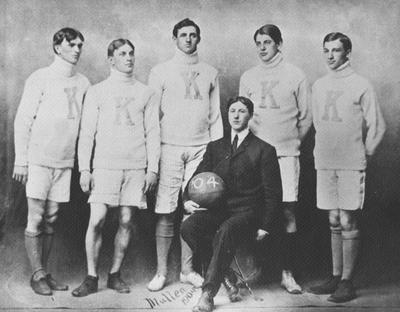 Basketball team photo, 1904; photographer, Mullen
