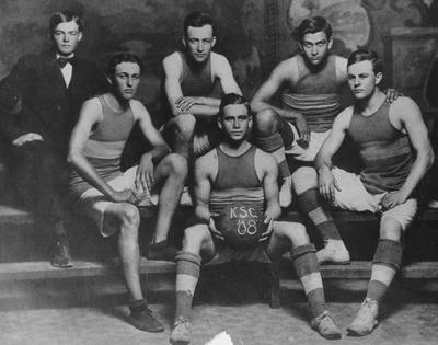 Unidentified member of the 1908 basketball team
