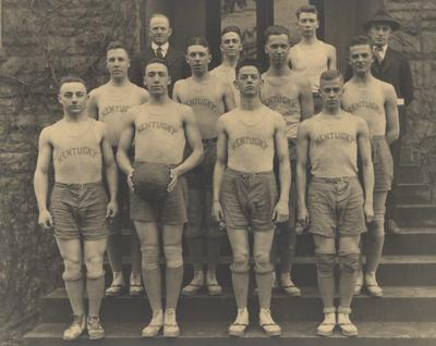 Members of the 1918-19 basketball team, unidentified; photo appears on page 152 in the 1919 Kentuckian
