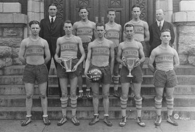 Members of the 1921 basketball team, Champions of the South