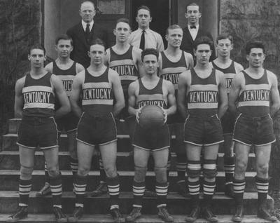 Members of the 1925 basketball team, unidentified
