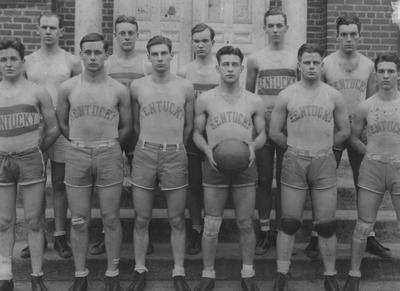 Members of the 1926-27 basketball team, unidentified
