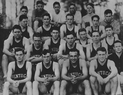 Members of the 1929-30 Freshman basketball team, unidentified; photographer:  E. Martin Jessee