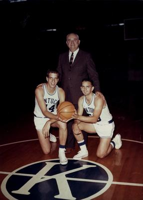 Coach Adolph Rupp pictured with Bill Lickert (left) and Dick Parsons