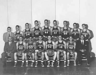 Basketball team photo, 1953-54 season