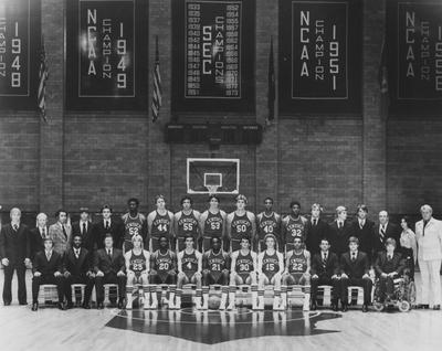 Basketball team photo, 1978 NCAA championship team; names of individuals listed on photograph sleeve