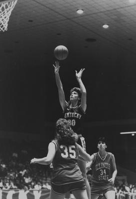 Melanie Warren, Owensboro, KY, starting center for the 1986 Lady Kats women's basketball team