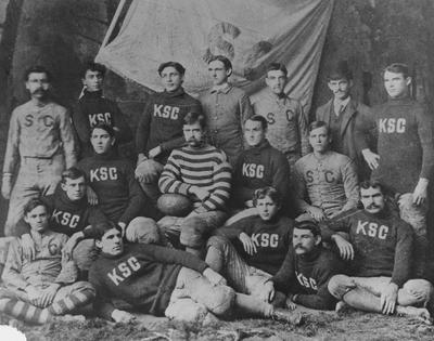 Unidentified members of the 1893 Kentucky State College football team; photo appears in the 1901 Kentuckian, page 39 and the May 9, 1965 Lexington Herald-Leader