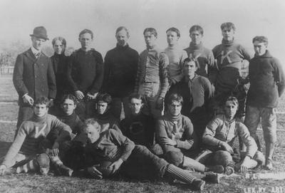 Unidentified members of the 1899 Kentucky State College football team; photographer:  R. L. McGlure and Jacob Inglewood; photo appears on page 36 in the 1901 Kentuckian