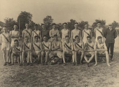 Unidentified members of the UK Track team, 1919-20; photo appears on page 126 in the 1920 Kentuckian