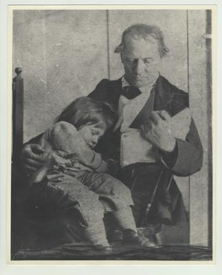 Dr. Robert Peter and son Alfred Meredith Peter; Peter was professor of Chemistry and Experimental Philosophy, 1866 - 1887; Photo given to President Frank L. McVey by George D. Karsner, faculty member