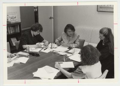 Several women at meeting