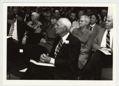 Thomas D. Clark Papers Dedication ceremony; Clark sits in center