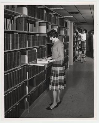 Two women in the Medical Center Library