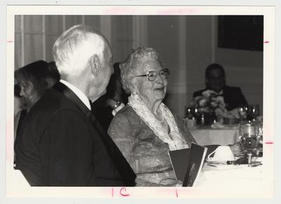 Dr. Thomas D. Clark and Mrs. W. Hugh Peal at the Commonwealth / W. T. Young Library Fundraising Kickoff