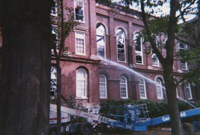 Administration Building fire, May 15, 2001
