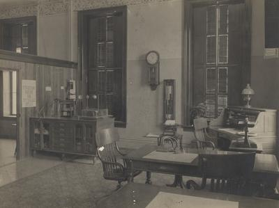 Administration Building interior; weather bureau. Received October 20, 1948 from R. T. Bryant