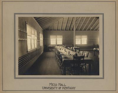 View of the Mess Hall inside Barker Hall, later used as a women's gym