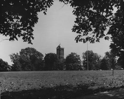 Barker Hall from a distance; photographer:  Thomasson-Smith