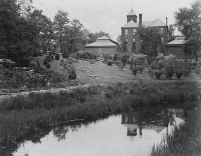 Botanical Gardens behind Barker Hall; photographer:  Thomas D. Boyd, Starman Studio