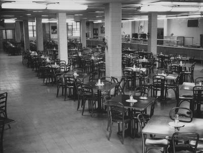 Cafeteria in the Student Union Building; photographer:  John B. Kuiper