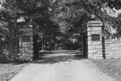 Gated entryway to the Carnahan House