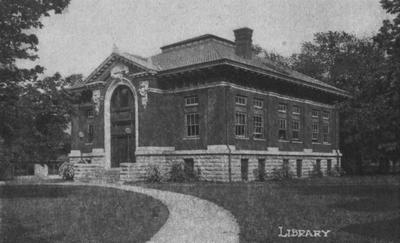 The Carnegie Library was completed in 1908, opened in 1909 and destroyed in 1967 to make room for two projects:  the Patterson Office Tower and the White Hall Classroom building