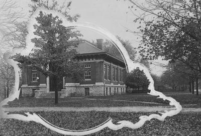 The Carnegie Library was completed in 1908, opened in 1909 and destroyed in 1967 to make room for two projects:  the Patterson Office Tower and the White Hall Classroom building, This print appears on page 10 in the 1920 yearbook