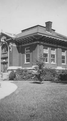 The Carnegie Library which was named for its benefactor, Andrew Carnegie and was completed in 1908, opened in 1909 and destroyed in 1967 to make room for two projects:  the Patterson Office Tower and the White Hall Classroom building