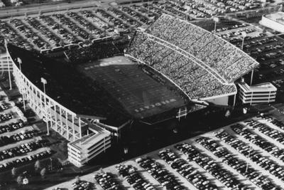 Aerial view of Commonwealth Football Stadium during a football game. This image was used for the