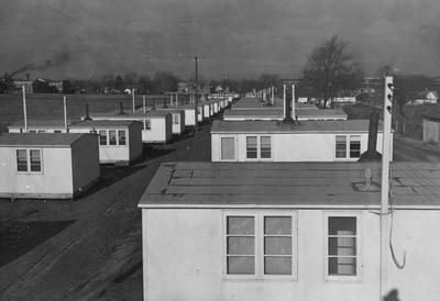 After World War II, the University bought government surplus prefabricated houses for five dollars each including furnishings, to house the rapidly increasing numbers of married students