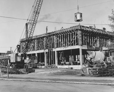 Construction of Dickey Hall. Received on November 21, 1963 from Public Relations