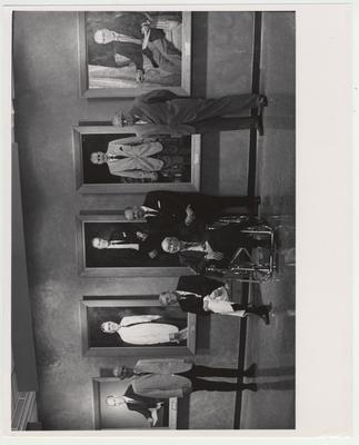 Medical Center Distinguished Faculty / Administrators; From left: William Willard, unidentified, John Sharpe Chambers, and two other unidentified men