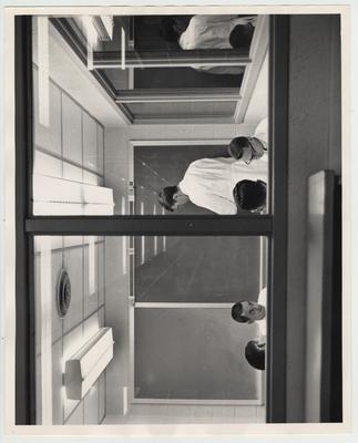 Men studying in a room of the Medical Center, located in the Medical Center library