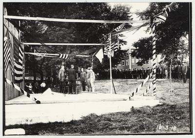 University of Kentucky military training during World War I.  On stage ceremony