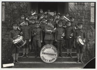 University of Kentucky military training during World War I.  Kentucky State University Cadet Band