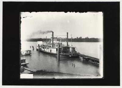 University of Kentucky military technical training during World War I.  A steam boat hauling war supplies