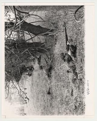 Army Reserve Officers Training Corps field exercises.  This photo is in the 1969 Kentuckian on page 111